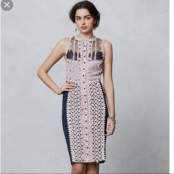 e9084f47 Anthropologie Dresses | Beguile Byron Lars Lasercut Sheath Dress ...